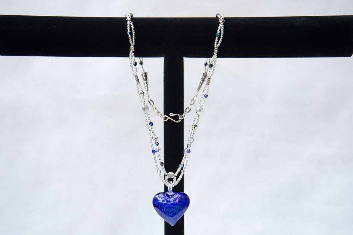 Heart of Blues Stone Necklace